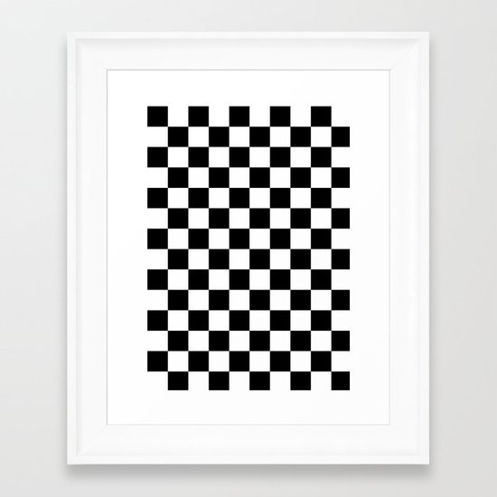damier Framed Art Print