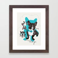 Chauncey Loves You - French Bulldog Framed Art Print