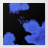 Blue Violet And Black Canvas Print