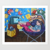 Mario 64 Time Warp Art Print