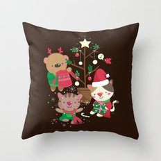 Holiday Crew Throw Pillow