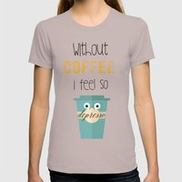 DEPRESSO Womens Fitted Tee Cinder SMALL