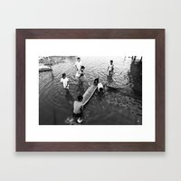 Bajo kids Framed Art Print