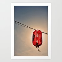 Backlit Chinese Lantern Art Print