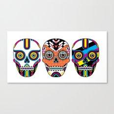 3 Skulls Canvas Print