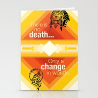 native american Stationery Cards featuring Native American by Chris Cammarota