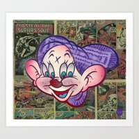Dopey 4 Eye Art Print