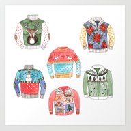 Art Print featuring Ugly Sweaters by Brooke Weeber