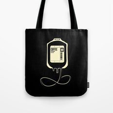 Coffee Transfusion - Black Tote Bag