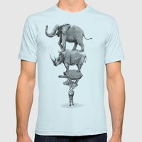 In Your Hands Mens Fitted Tee Light Blue SMALL