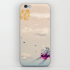 The Boy Who Carried the Big Bad Wolf Poster iPhone & iPod Skin