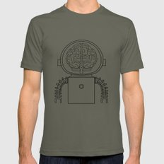 RobotSpaceBrain Mens Fitted Tee Lieutenant SMALL