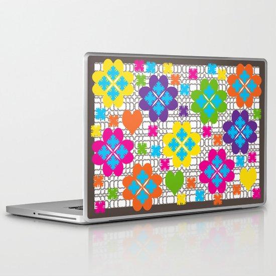 Floral Squares Laptop & iPad Skin
