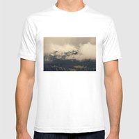 Mountains through the Fog Mens Fitted Tee White SMALL
