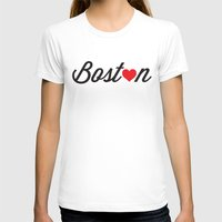 boston T-shirts featuring Boston by Julia Paige Designs