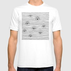 PEEPING TOM [BLK & WHT] Mens Fitted Tee SMALL White