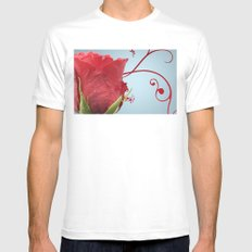 Rose, Reinvented White Mens Fitted Tee SMALL