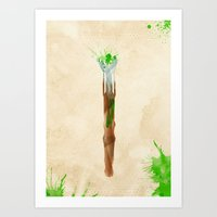 Doctor Who 11th Doctor's Sonic Screwdriver Rustic Art Print