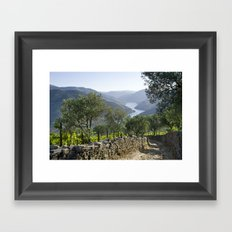 A Rustic Track In The Do… Framed Art Print