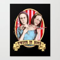Tattler Twins (color) Canvas Print