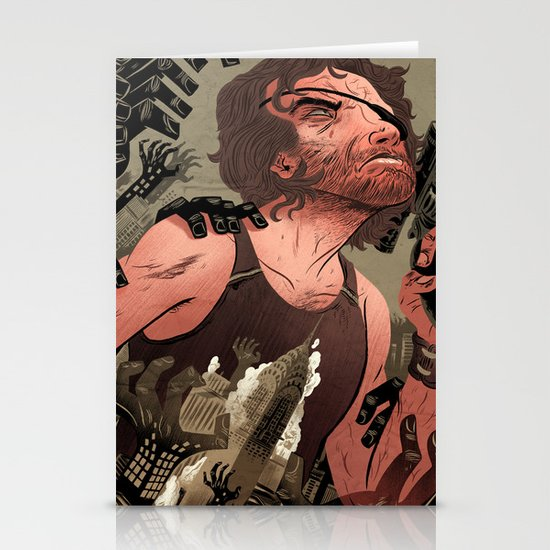 Escape From New York Poster Stationery Card