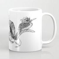 The ramskull and bird Mug