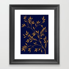 Blue branches Framed Art Print