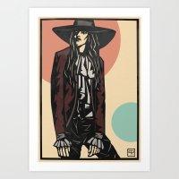 Cowboy Hat Girl  Art Print