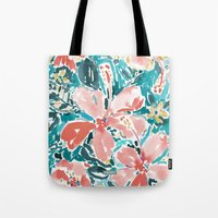 HELLO HIBISCUS - CORAL Tote Bag