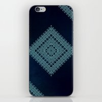 Deep Blue Diamonds iPhone & iPod Skin