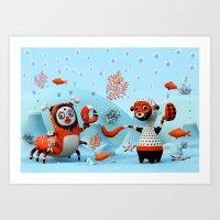 Dead Fish Art Print