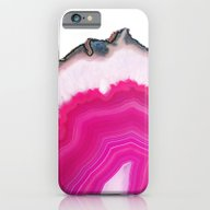 iPhone & iPod Case featuring Pink Agate Slice by Cafelab