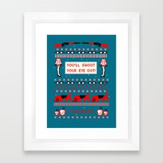 A Christmas Sweater (Blue) Framed Art Print