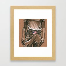Border Patrol Framed Art Print