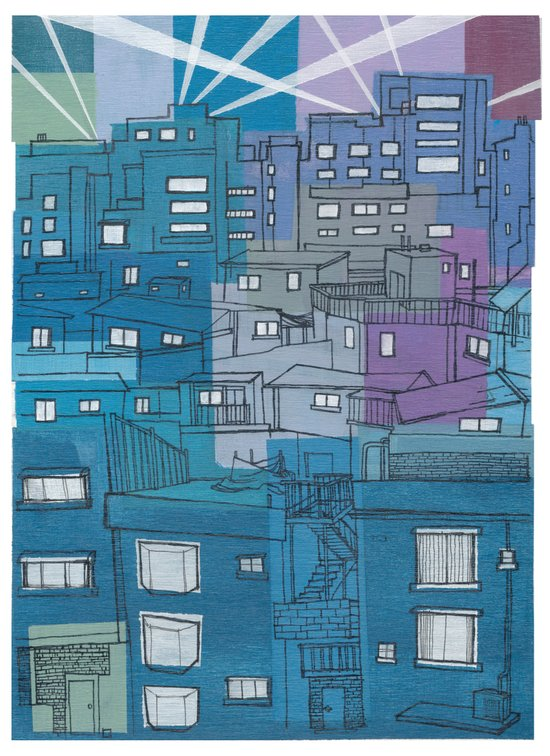 Seoul City #3 Art Print