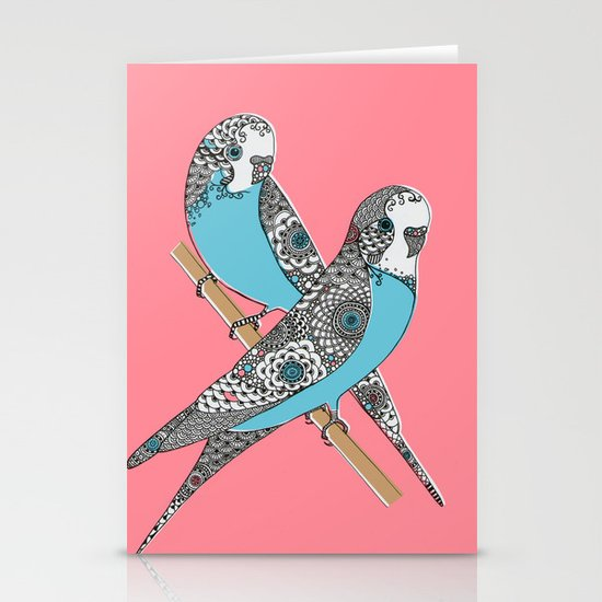 Budgies Stationery Card