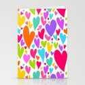 Cute colorful heart Stationery Cards