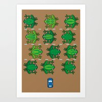 Revenge Of The Frogs Art Print