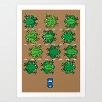 Revenge Of The Frogs Art Print