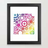 Color Cogs. Framed Art Print
