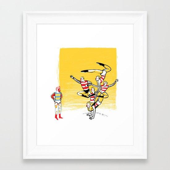 the group Framed Art Print