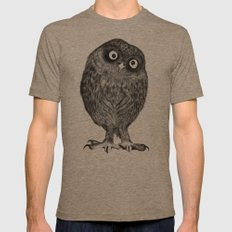Owl Nr.4 Mens Fitted Tee Tri-Coffee SMALL