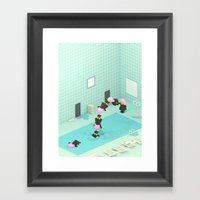 Indoor Pool Framed Art Print