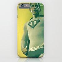 obama iPhone & iPod Cases featuring super obama by fotografismi.com