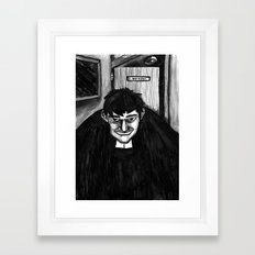 B.A Framed Art Print