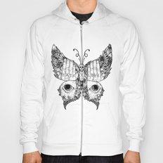 hate love butterfly Hoody