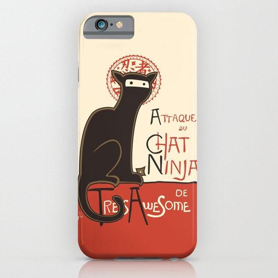 A French Ninja Cat (Le Chat Ninja) iPhone & iPod Case