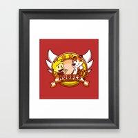 Calvin And Hobbes: Hobbe… Framed Art Print