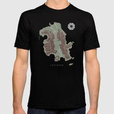 Lost Island Black SMALL Mens Fitted Tee