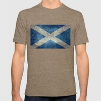 National Flag Of Scotlan… Mens Fitted Tee Tri-Coffee SMALL